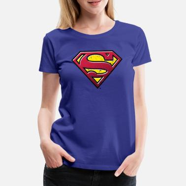 Licentie Superman S-Shield Used Look 2 Teenager's T-Shirt - Vrouwen premium T-shirt