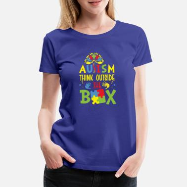 Autism Awareness Autism think outside the box - Women's Premium T-Shirt