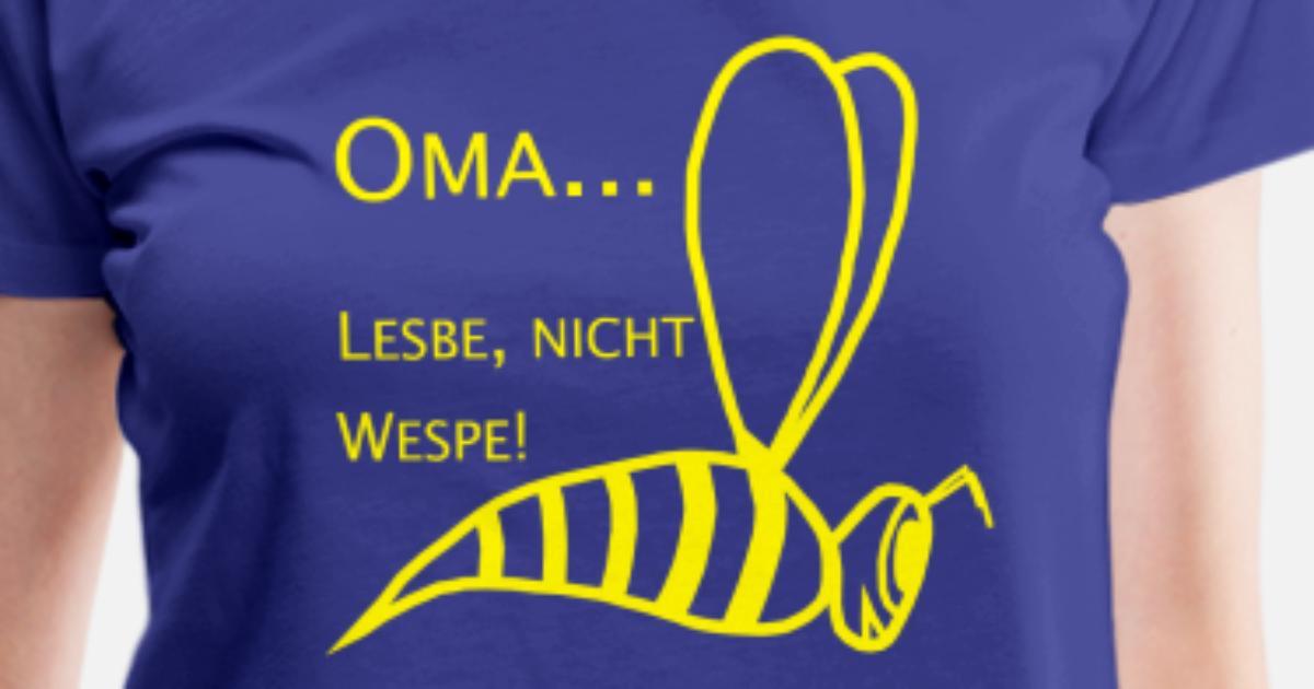 Oma Lesbe, nicht Wespe! Frauen Premium T-Shirt