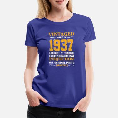 80 Ans Vintaged Made In 1937 Limited Editon - T-shirt Premium Femme