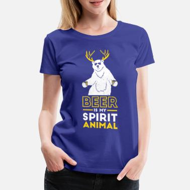 Stag Do Beer is my spirit Animal - Women's Premium T-Shirt