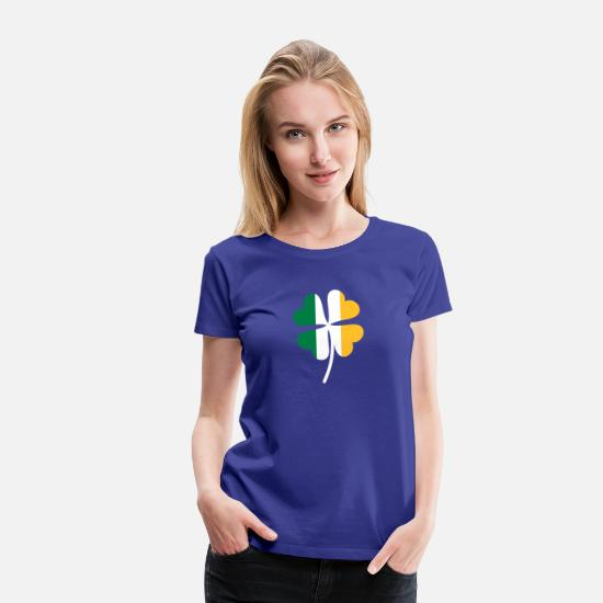 Celtic T-Shirts - Shamrock Irish Flag - Women's Premium T-Shirt royal blue