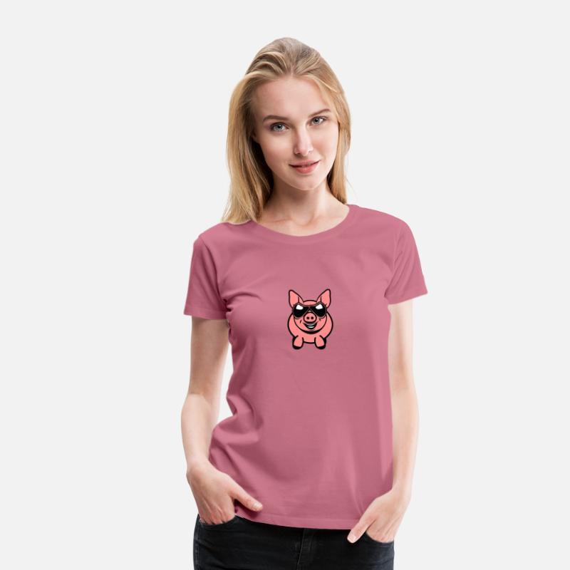 Gris sjove venlige solbriller Dame premium T shirt rødviolet
