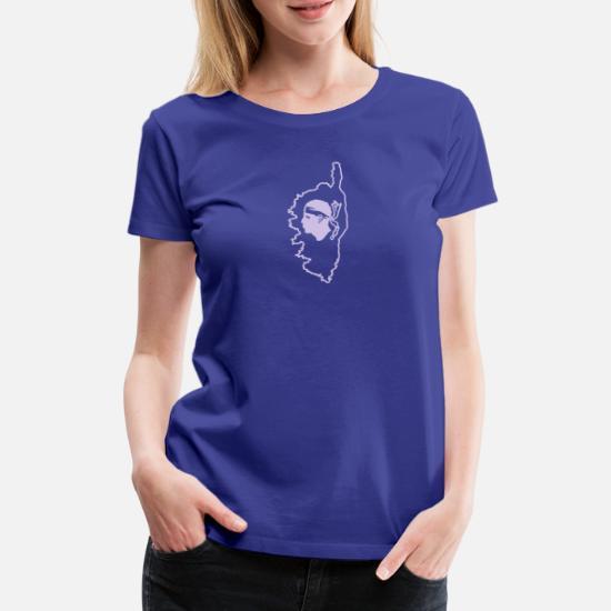 5a9198637a1c3 Corse carte et tête de Maure T-shirt premium Femme