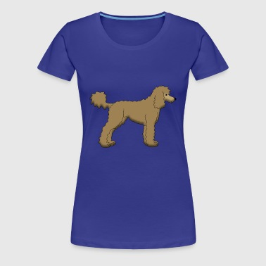 Poodle Brown - Women's Premium T-Shirt