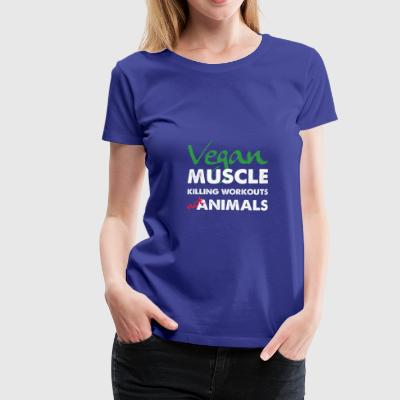 Allenamenti Muscle Vegan Non Animali Assassini T Shirt - Maglietta Premium da donna