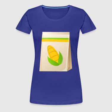 corn corn maize cereal veggie vegetables vegetables - Women's Premium T-Shirt
