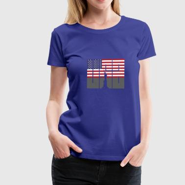 usa Flag Statue of Liberty US Stars and Strip's - Women's Premium T-Shirt