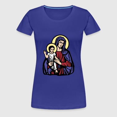 Mary and Jesus - T-shirt Premium Femme