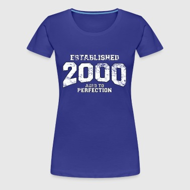 established 2000 - aged to perfection (sv) - Premium-T-shirt dam