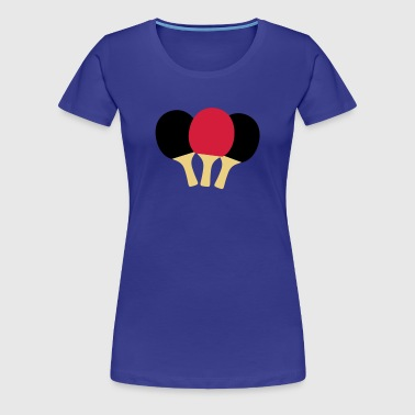 Table Tennis Paddle - Women's Premium T-Shirt