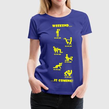 Weekend kommer - Dame premium T-shirt