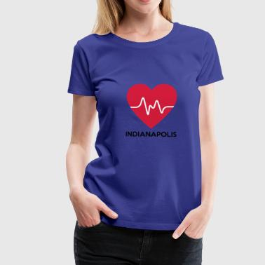Heart Indianapolis - Women's Premium T-Shirt