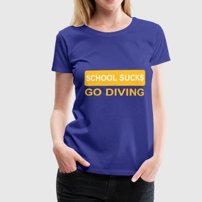2541614 14038973 diving - Frauen Premium T-Shirt