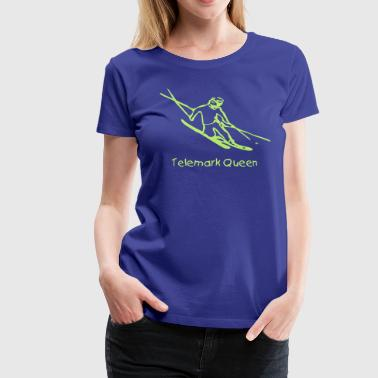 Dynamic Skier - Women's Premium T-Shirt