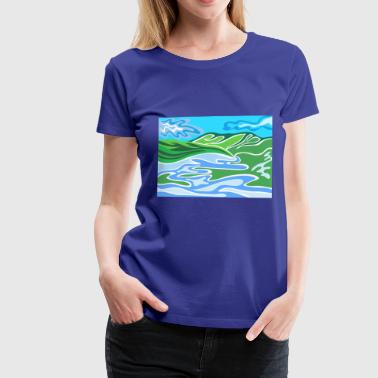 abstract river2 - Women's Premium T-Shirt