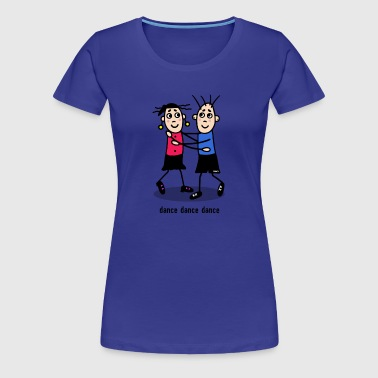 dance dance dance - couple - Women's Premium T-Shirt