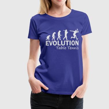 Table Tennis Evolution - Women's Premium T-Shirt