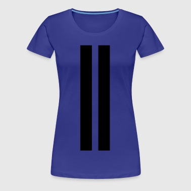 racing stripes - rallye stripes - rally stripes - Women's Premium T-Shirt
