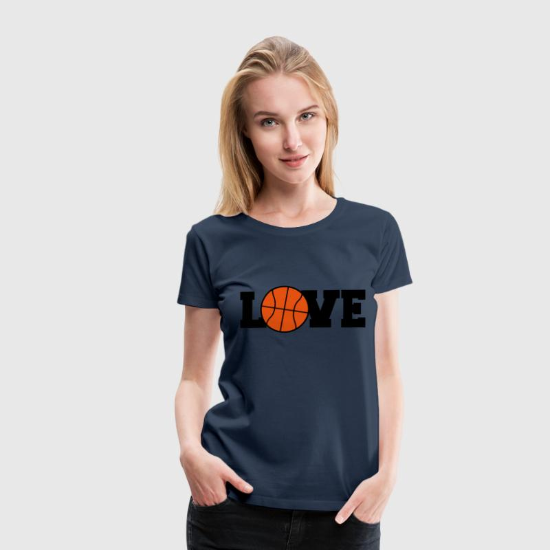 I Love Basketball Logo Design - Maglietta Premium da donna