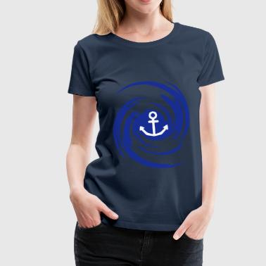 Anchor Swirl - Frauen Premium T-Shirt