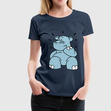 The hippo is happy  Aprons - Women's Premium T-Shirt