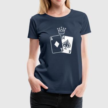 Poker Cards - Premium T-skjorte for kvinner