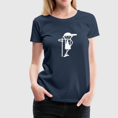 Spear Boy with spear - Women's Premium T-Shirt