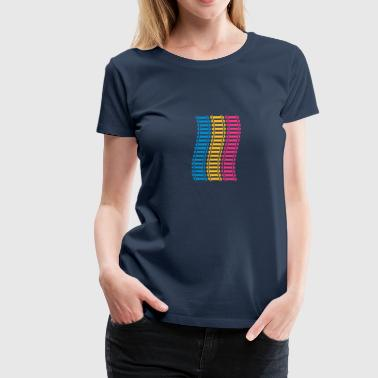 Railways Pattern - Women's Premium T-Shirt