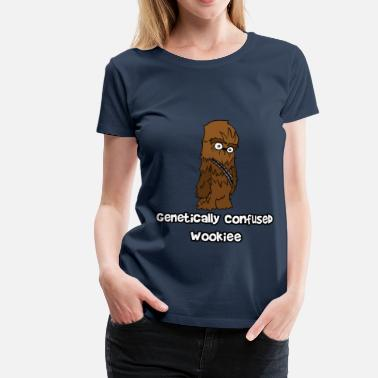 Genetics Genetically Confused Wookiee | ThereGoesLucie - Women's Premium T-Shirt