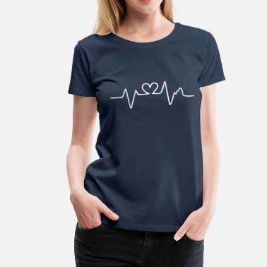 Heart Beating heart beat - Women's Premium T-Shirt