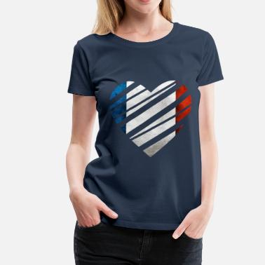 France Heart - Vrouwen Premium T-shirt