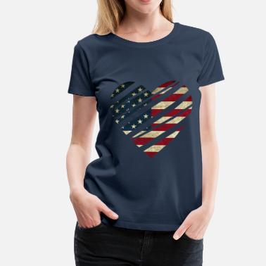 USA Heart - Women's Premium T-Shirt