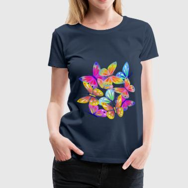 Colourful Butterflies - Women's Premium T-Shirt