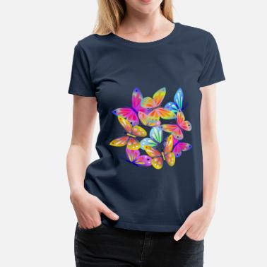 Summer Colours Colourful Butterflies - Women's Premium T-Shirt