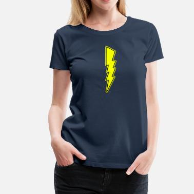 Lightning Electricity Electric Bolt - Lightning - Shock - Electric - Women's Premium T-Shirt