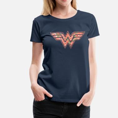 Officialbrands DC Comics Wonder Woman Florales Logo Rosen - Frauen Premium T-Shirt