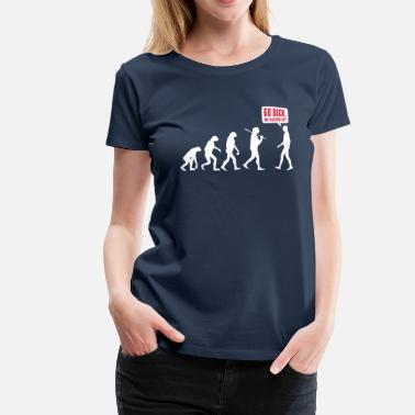 Running Go back we screwed up - Evolution Lustig Humor - T-shirt Premium Femme