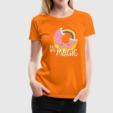 Donut - filled with magic - Women's Premium T-Shirt