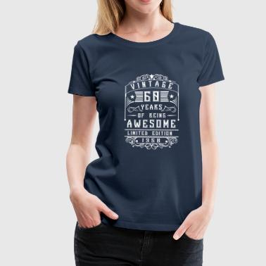 60 Years of being awesome Limited Edition 1958 - Vrouwen Premium T-shirt