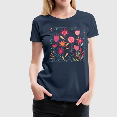 Wild weeds and flowers - Women's Premium T-Shirt