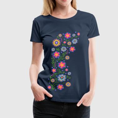 Summer flowers, spring, garden, nature, beautiful - Dame premium T-shirt