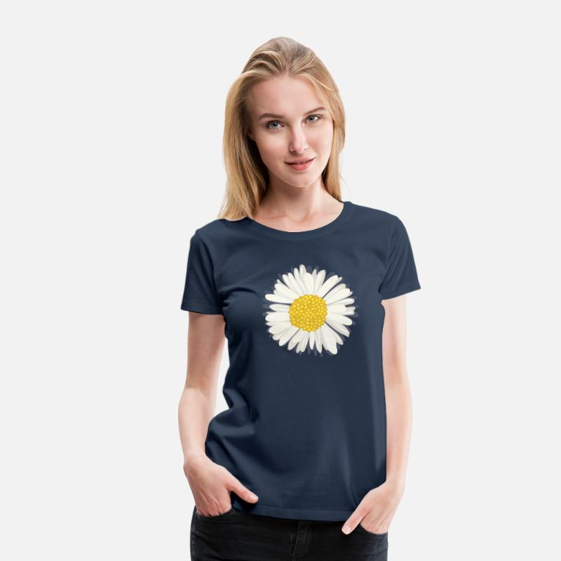 Illustration T-Shirts - Daisy - Women's Premium T-Shirt navy