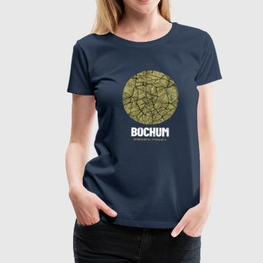 Bochum - City Map Map (olive green) - Women's Premium T-Shirt