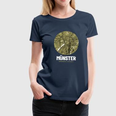 Münster - City Map Map (olive green) - Women's Premium T-Shirt