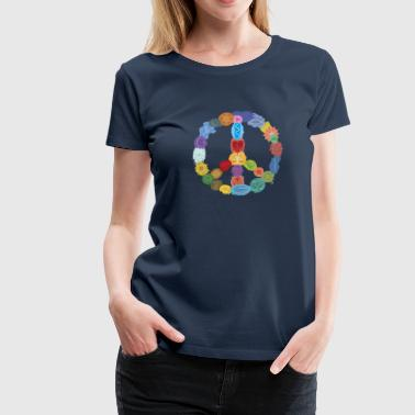 Peace Sign in Colors - Frauen Premium T-Shirt