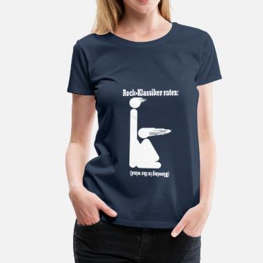 Piktogramm Blasen Blowing in the wind - weiss - Frauen Premium T-Shirt