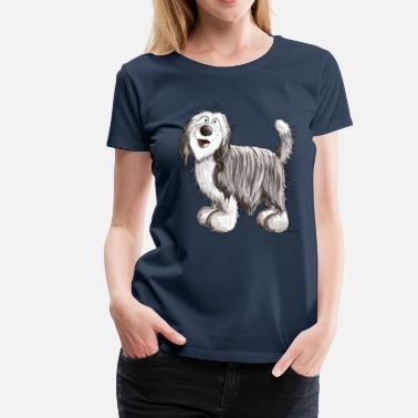 Bearded Collie Carino Bearded Collie - Maglietta Premium da donna
