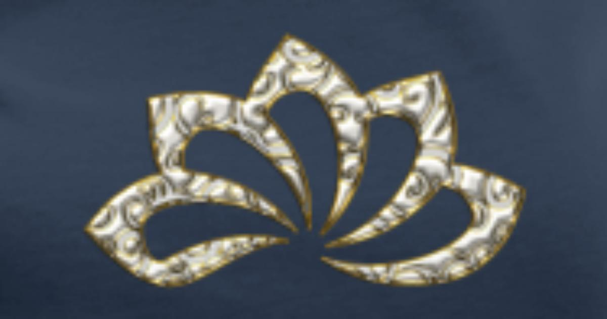 Lotus Flower Digital Gold Silver Symbol Of Perfection And
