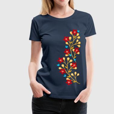 Flower Twine Flowers, floral tendril, twine, summer, spring, - Women's Premium T-Shirt